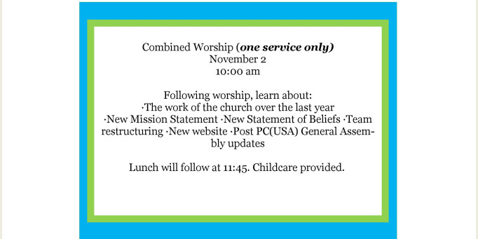 Combined Worship Service