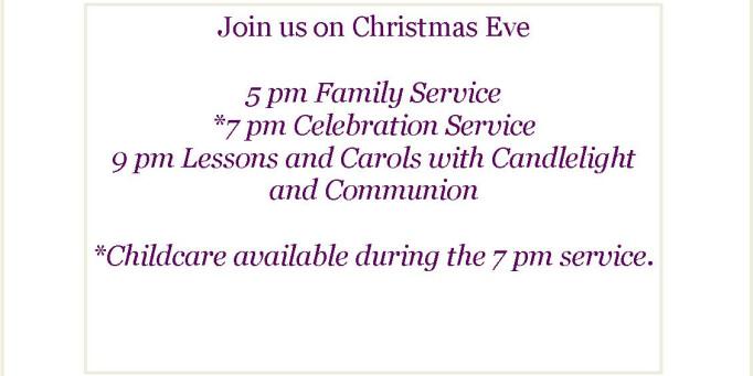 Christmas Eve Worship Times