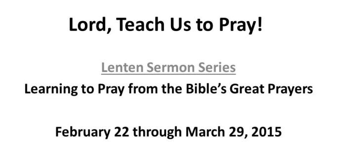 Rotator Lenten Sermon Series 2015